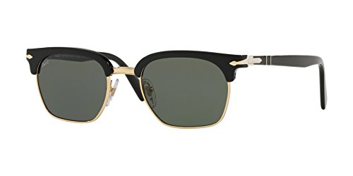 400999cd00 Amazon.com  Persol PO3199S 95 31 Black PO3199S Square Sunglasses ...