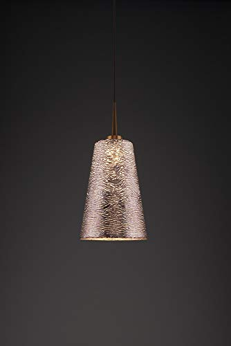 (Bruck Lighting 223845bz/MP Bling 2 LED Pendant with 4