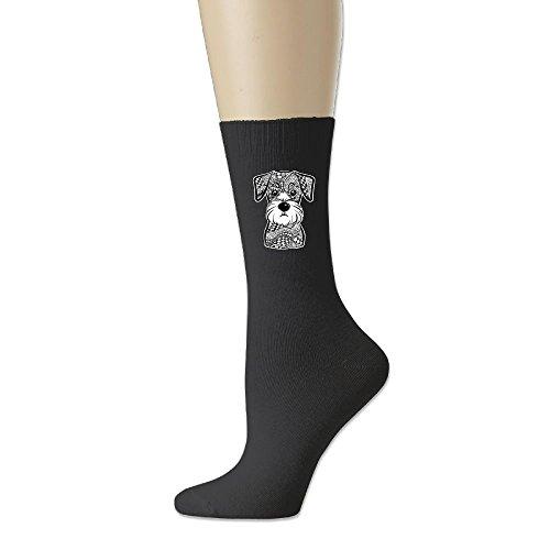 RZM YLY Mini Schnauzer Dog Unisex Funny Novelty Casual Soft Cotton Socks ()