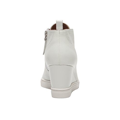 Linea Paolo Felicia | Women's Platform Wedge Bootie Sneaker Leather Or Suede White Perforated Leather free shipping newest QiTrGBr76T