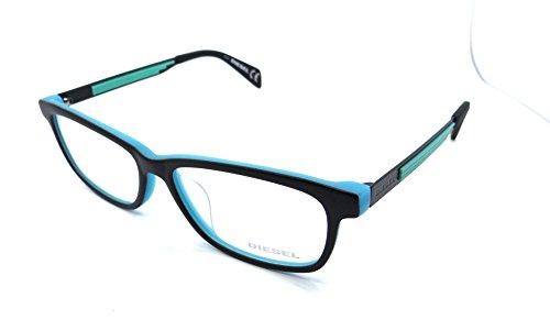 Diesel Rx Eyeglasses Frames DL4104 005 57-15-145 Black on Light Blue