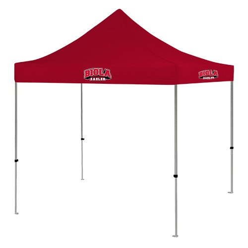 Biola 9 ft x 9 ft Red Tent 'Official Logo' by CollegeFanGear