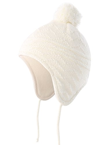 Connectyle Toddler Infant Baby Knit Kids Hat Fleece Lined Beanie Skull Cap with Earflap Warm Winter Beanies Cap