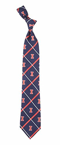 - Illinois Fighting Illini NCAA Silver Line Woven Silk Neck Tie Eagles Wings