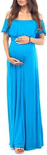 Maternity Ruffle Sleeveless Dress with Neck Straps