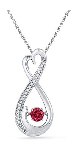 0.25 Ct Ruby Pendant - 9