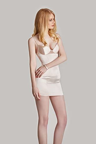 AGNEL Bodycon Lace Chemises Mini Babydoll Satin Slip Dress