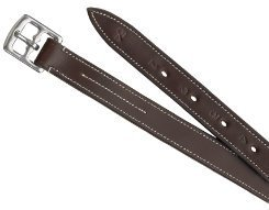 Nylon Lined Stirrup Leathers - Camelot Lined Stirrup Leathers 7/8 Inch Brown