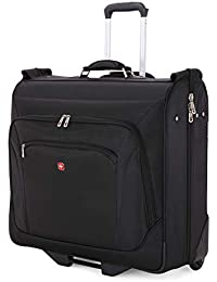 Full-Sized Effortless Folding Wheeled Garment Bag | Rolling Travel Luggage | Men's and Women's - Black