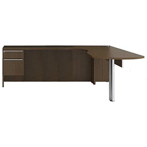 (Cherryman Verde Collection 72†Laminate Left arcEnd L-Desk, 42