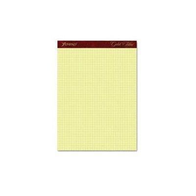 Gold Fibre Canary Quadrille Pad, 8-1/2