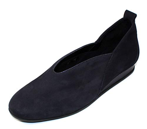 Arche Women's Piassy in Nuit Nubuck/Shade Pearlized Grain Leather - Deep Navy - Size 39 M