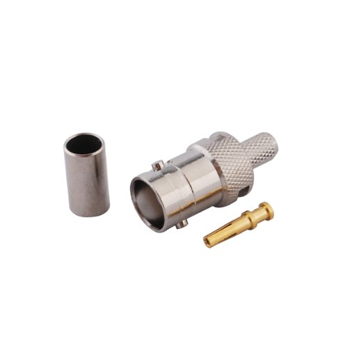 Eightwood BNC Female Crimp RF connector 50ohm for RG58 RG142 RG400 LMR195 (pack of 10)