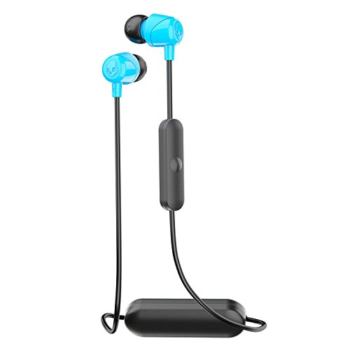 Skullcandy Method Bluetooth Wireless Sweat-Resistant Sport Earbuds with Microphone, Secure Around-The-Neck Collar, 9-Hour Rechargeable Battery, Perfect for Working Out, Navy/Blue.
