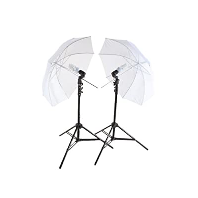 StudioPRO 450W Photography Studio Continuous Lighting Two Light Translucent Umbrella Kit with Two 45W CFL Bulbs from StudioPRO