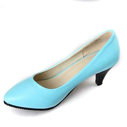 Stiletto Beige Beige PU Women's Shoes Basic Polyurethane ZHZNVX Heel Heels Spring Blue Black Pump 8FOyqTxZW