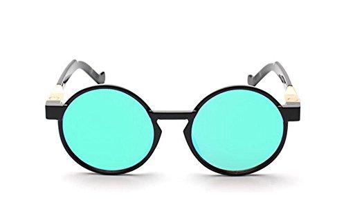 rond vintage Lunettes Hellomiko de Rétro et femmes hommes polarisé Vert lunettes Noir UV cadre soleil hippy 485wqA