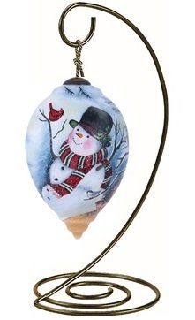 Ne'Qwa Princess-Shaped Glass Ornament With Classic Hanging Stand,