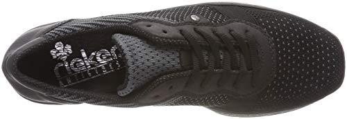 black Rieker Basses Sneakers iron Femme 589p4 Noir 00 schwarz wUqPU7Z
