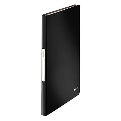 20 Hüllen Sichtbuch A4 schwarz PP Ordnungsmappe Präsentationsmappe Sichtmappe