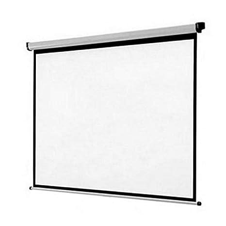 Eurowebb Pantalla de proyección de Pared Blanco 180 x 180 cm para ...
