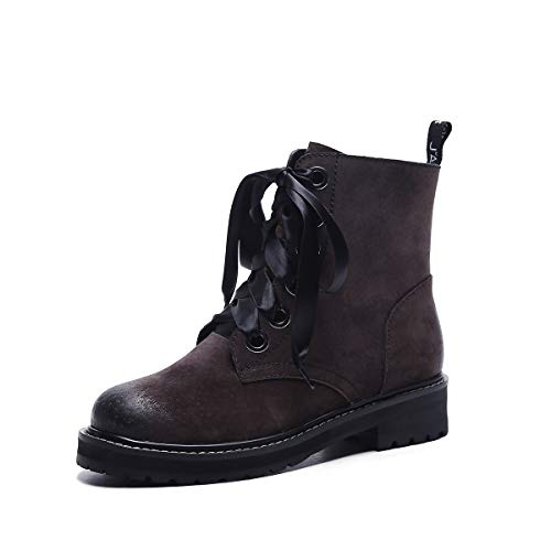 Courtes pour Talon Color Coffee à Bottines Plat Femme Martin RdXpqx