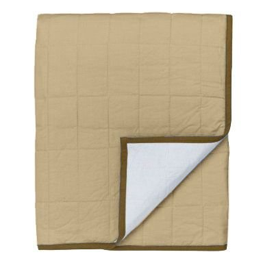 (Metro Khaki/White/Chocolate Quilted Toddler Throw Play)