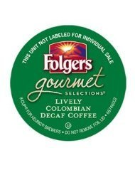 FOLGERS LIVELY COLOMBIAN DECAF K CUP COFFEE 48 COUNT