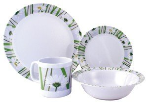 Royal Daisy Melamine Crockery Set  sc 1 st  Amazon UK & Royal Daisy Melamine Crockery Set: Amazon.co.uk: Sports \u0026 Outdoors