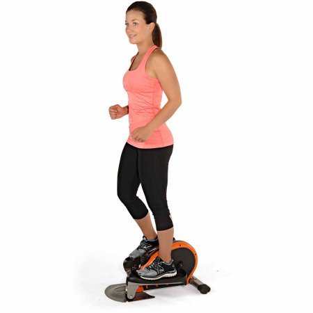 Stamina Electronic Fitness Peddler InMotion Elliptical with Adjustable Tension and Monitor, Orange by Stamina*