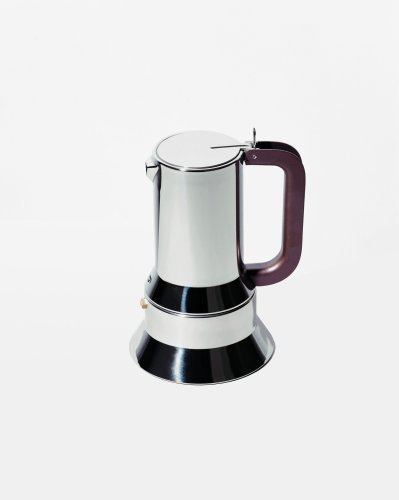 Alessi 9090/3 Stovetop Espresso Coffee Maker Magnetic Base 3 Cup by Alessi