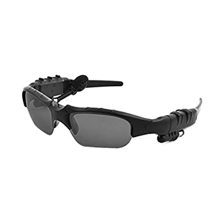 eDealMax manera de Bluetooth Wireless Headset Manos Libres MP3 gafas de sol auriculares Negro