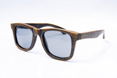 Sol Lentes Wood 53002 Montura Polarizadas Gafas Negro De Sunglasses Ocean Ahumadas 01 Bambú Victoria CRwqXnf