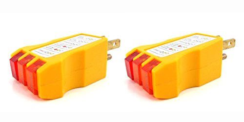 Elitexion Outlet Circuit Receptacle Tester - Pack of 2 ()