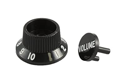 Fender Stratocaster S-1 Switch Knob/Cap Assembly - Black from Fender Musical Instruments Corp.