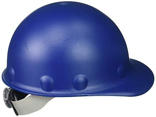 Fibre-Metal Roughneck Blue Fiberglass Cap Style Hard Hat - 8-Point Suspension - Swing Strap Adjustment - Reversible Suspension, Strip-Proof - P2AQSW71A000 [PRICE is per EACH]