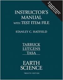 Earth science (12th international edition): frederick k. Lutgens.