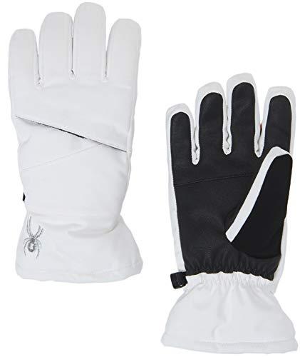 Spyder Girls' Astrid Ski Glove, White/Black, Small