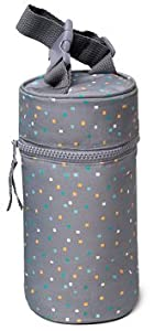 Kenley Insulated Single Baby Bottle Bag - Warmer or Cooler - Travel Carrier, Holder, Tote, Portable Breastmilk Storage - Fits Tall 8oz 9oz Milk Bottles from Kenley