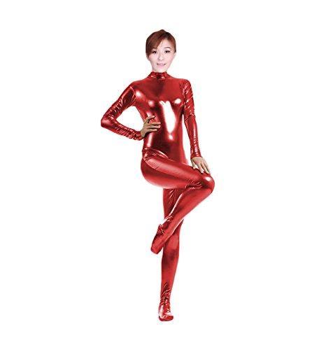 WOLF UNITARD Shiny Metallic Unitard Catsuit Dancewear X-Large