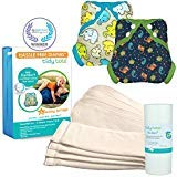 Tidy Tots Diaper Hassle Free 4 Diaper Snap Essential Set (Monsters|Elephants)