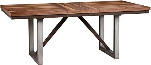 (Coaster CO-106581 Dining Table, Natural Walnut/Espresso)