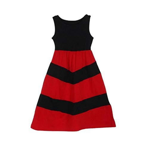Casual and Mommy Clothes Dresses Daughter Matching Family Stripe Anboo Stitching Uq01xq