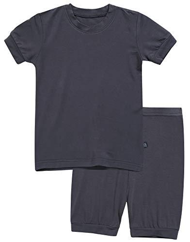 Big And Tall Short Sleeve Shorts - Boys Short Sleeve Sleepwear Pajamas 2pcs Set Short Colorful Charcoal S