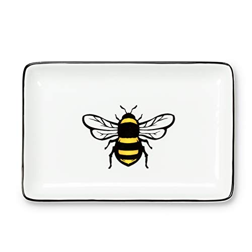 Abbott Collection 27-Buzz Yellow Bee Rect Tray-4x6 L, 4x6 inches Long, Soap/Lotion Pump