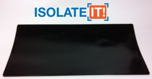 Isolate It!: Sorbothane Acoustic & Vibration Damping Film 60 Duro (0.10 x 6 x 12in) by Isolate It!