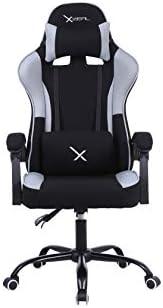Stylos Tech Silla Gamer Xzeal XZ20 Diseño ergonómico de Tela Brazo Fijo (Negro)