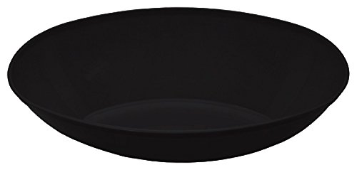 Creative Converting Form and Function Plastic Oval Bowl, Large, Black