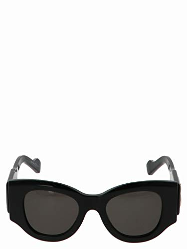 Luxury Fashion | Balenciaga Woman 595315T00011000 Black Acetate Sunglasses | Season Permanent