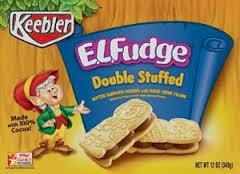 Double Fudge Cookies (E.L. Fudge Double Stuffed Sandwich Cookies 12oz - 2 packs)